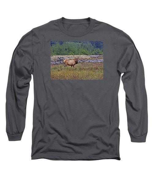 Roosevelt Elk Long Sleeve T-Shirt by Mark Alder