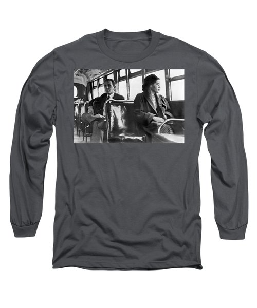 Rosa Parks On Bus Long Sleeve T-Shirt