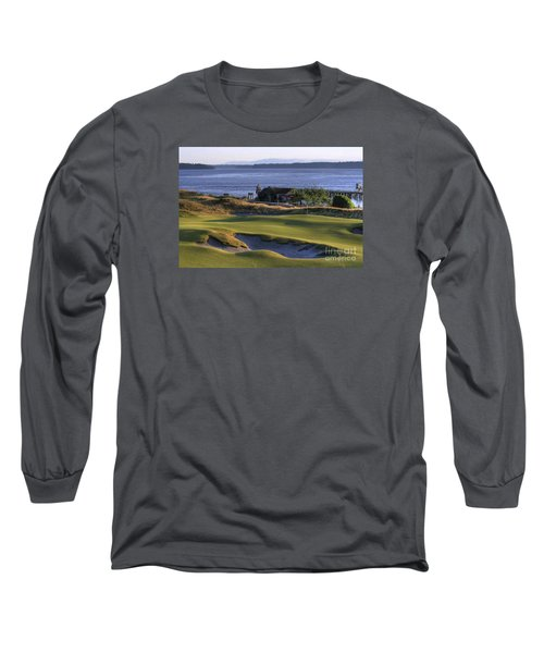 Hole 17 Hdr Long Sleeve T-Shirt by Chris Anderson