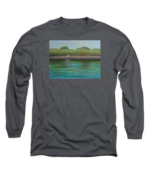 Roseate Spoonbill On East Creek Long Sleeve T-Shirt