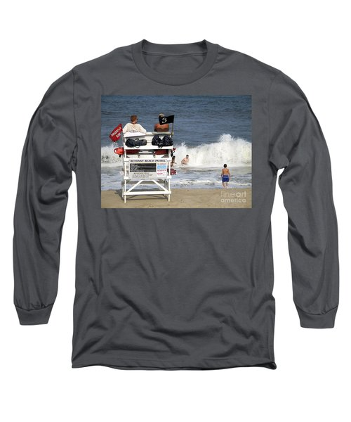 Rough Water At Bethany Beach In Delaware  Long Sleeve T-Shirt