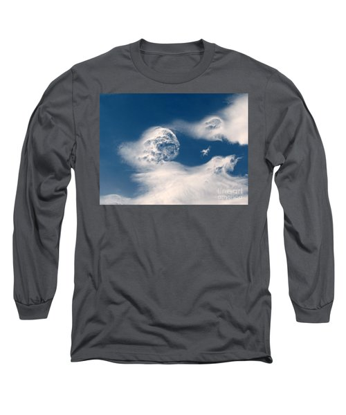 Round Clouds Long Sleeve T-Shirt by Leone Lund