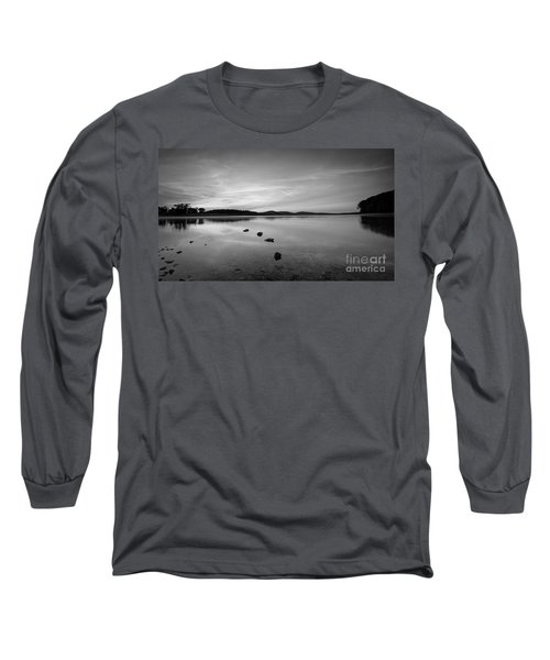 Round Valley At Dawn Bw Long Sleeve T-Shirt