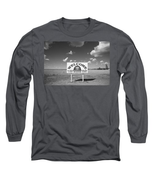 Route 66 - Midpoint Sign Long Sleeve T-Shirt by Frank Romeo