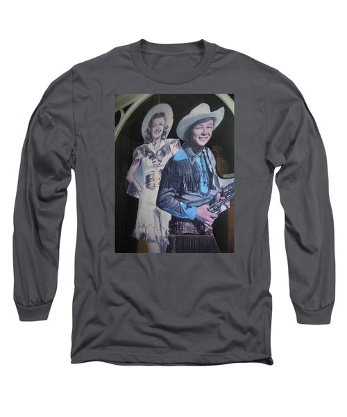 Roy Rogers And Dale Evans #2 Cut-outs Tombstone Arizona 2004 Long Sleeve T-Shirt by David Lee Guss