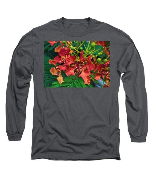 Royal Ponciana Long Sleeve T-Shirt