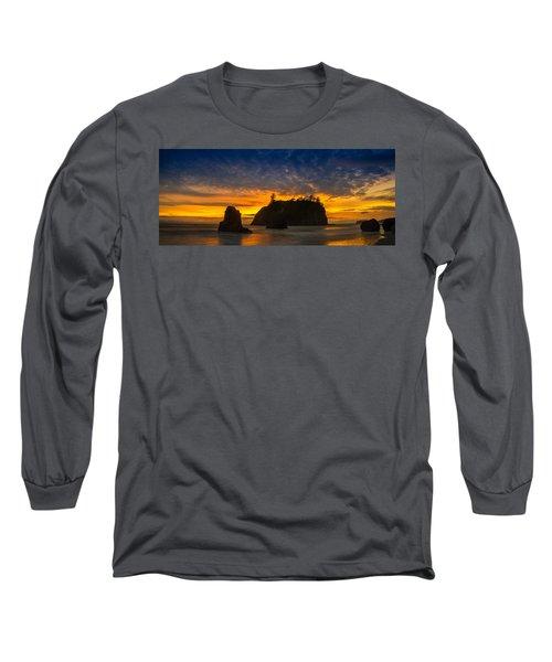 Ruby Beach Olympic National Park Long Sleeve T-Shirt by Steve Gadomski