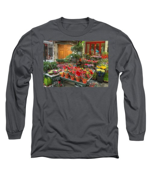 Rue Cler Flower Shop Long Sleeve T-Shirt