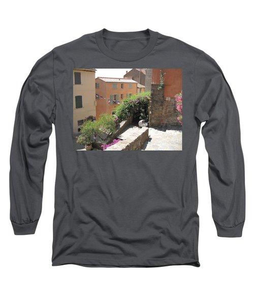 Rue De La Rose Long Sleeve T-Shirt by HEVi FineArt