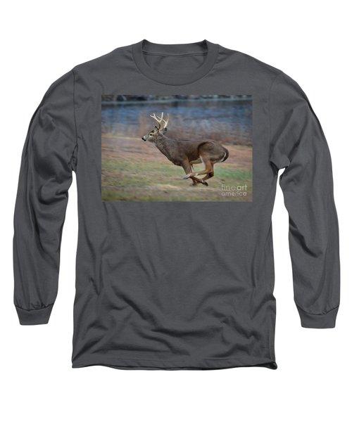 Running Buck Long Sleeve T-Shirt by Amy Porter