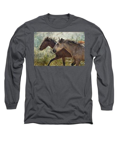 Running Free - Pryor Mustangs Long Sleeve T-Shirt