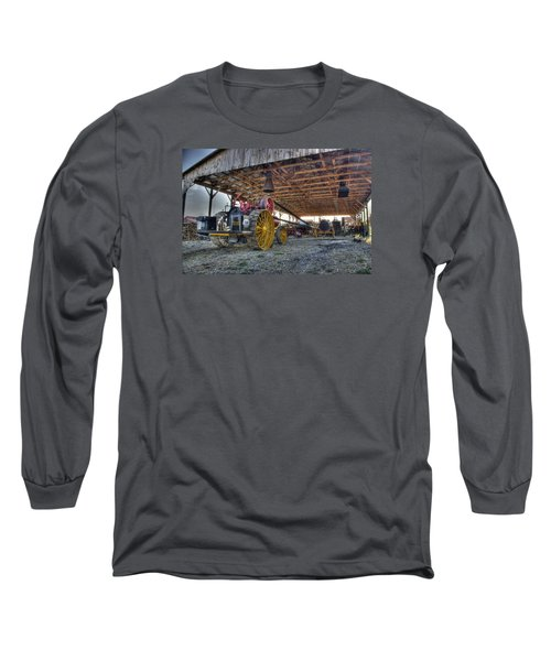 Russell At The Saw Mill Long Sleeve T-Shirt by Shelly Gunderson