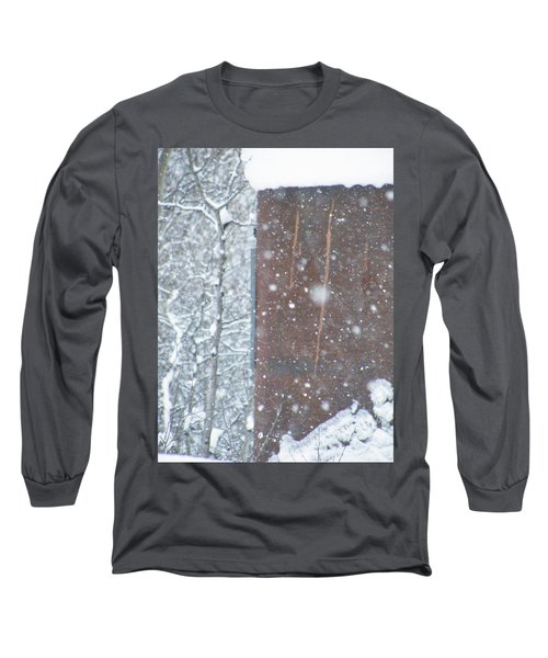 Rust Not Sleeping In The Snow Long Sleeve T-Shirt by Brian Boyle