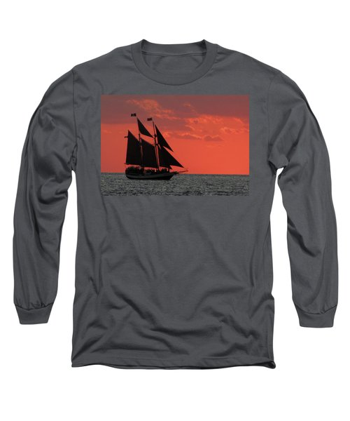 Key West Sunset Sail 5 Long Sleeve T-Shirt