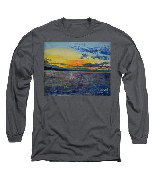 Sailboats Near Stockholm Long Sleeve T-Shirt