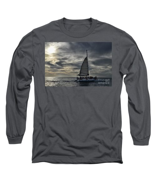 Sailing The Caribbean Long Sleeve T-Shirt