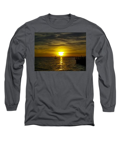 Sailing The Sunset Long Sleeve T-Shirt