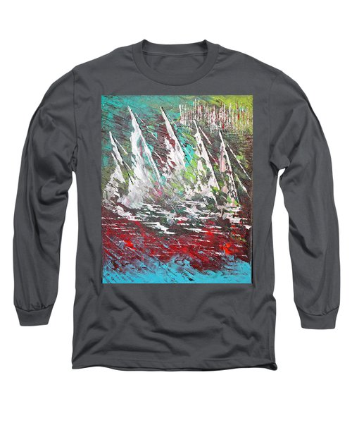 Sailing Together - Sold Long Sleeve T-Shirt by George Riney