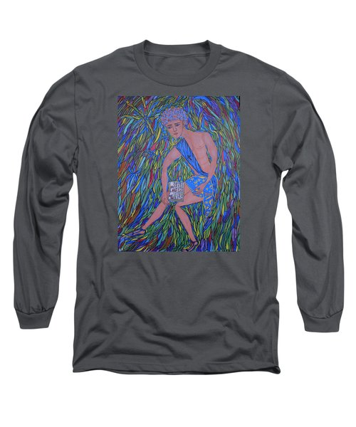 Long Sleeve T-Shirt featuring the painting Saint Mark by Marie Schwarzer