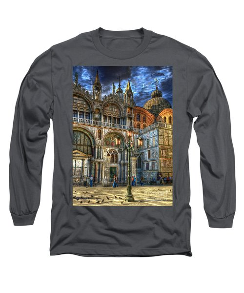 Saint Marks Square Long Sleeve T-Shirt by Jerry Fornarotto