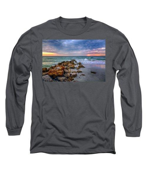 Saint Pete Beach Stormy Sunset Long Sleeve T-Shirt
