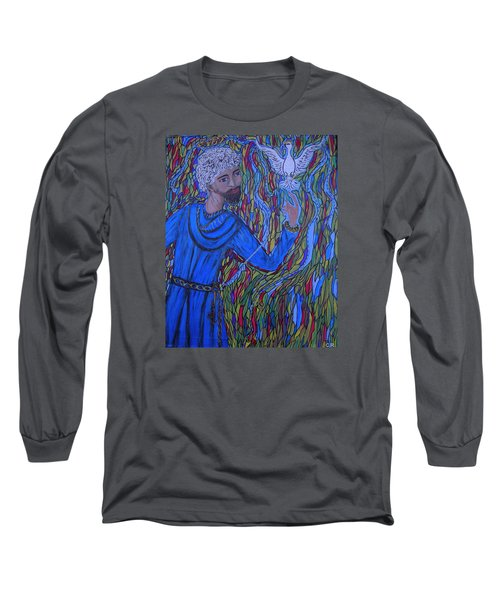 Long Sleeve T-Shirt featuring the painting Saint Peter by Marie Schwarzer