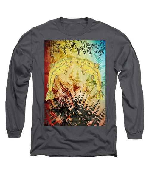 Salmon Love Gold Long Sleeve T-Shirt by Kim Prowse