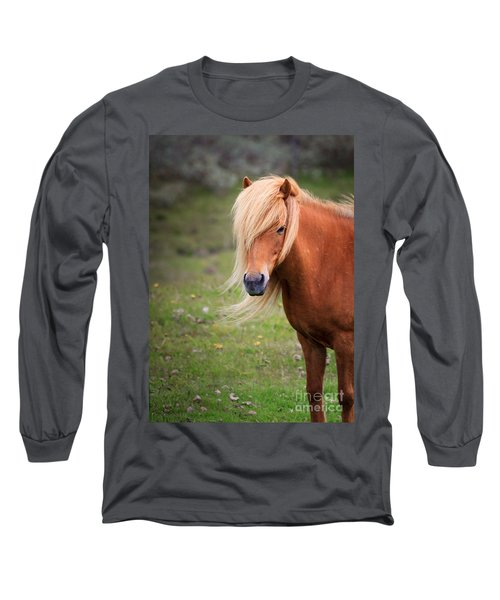Long Sleeve T-Shirt featuring the photograph Salon Perfect Pony by Peta Thames
