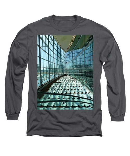 Long Sleeve T-Shirt featuring the photograph Salt Lake City Library by Ely Arsha