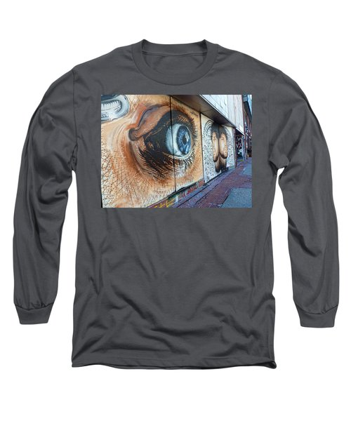 Long Sleeve T-Shirt featuring the photograph Salt Lake City - Mural 1 by Ely Arsha