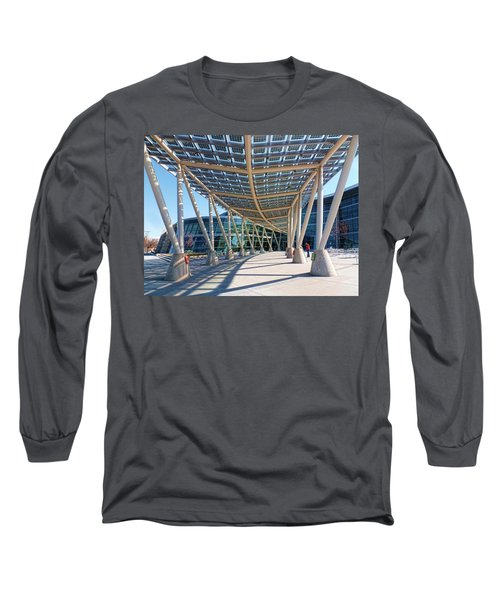 Long Sleeve T-Shirt featuring the photograph Salt Lake City Police Station - 2 by Ely Arsha