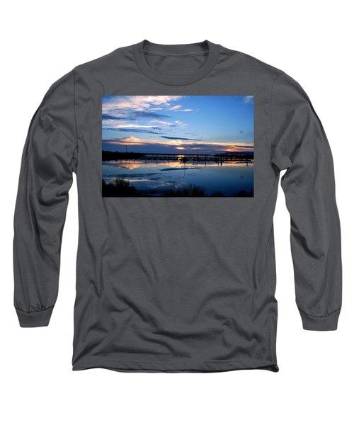 Salt Lake Marina Sunset Long Sleeve T-Shirt by Matt Harang