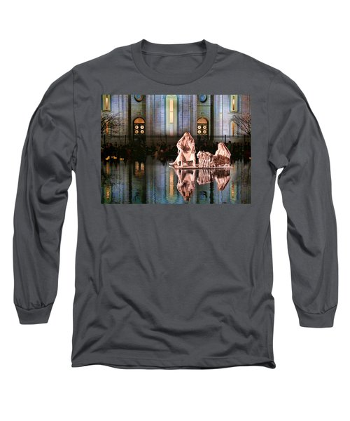 Long Sleeve T-Shirt featuring the photograph Salt Lake Temple - 2 by Ely Arsha