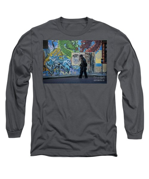 San Francisco Chinatown Street Art Long Sleeve T-Shirt by Juli Scalzi