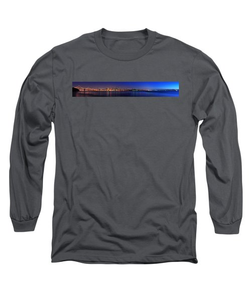 San Francisco Dusk Panorama Long Sleeve T-Shirt