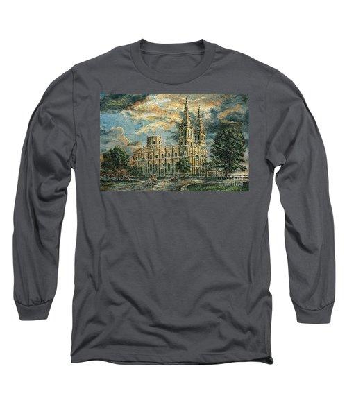 San Sebastian Church 1800s Long Sleeve T-Shirt by Joey Agbayani