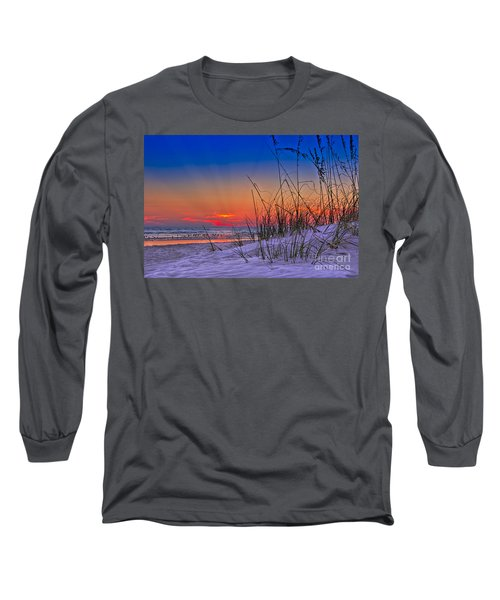 Sand And Sea Long Sleeve T-Shirt by Marvin Spates