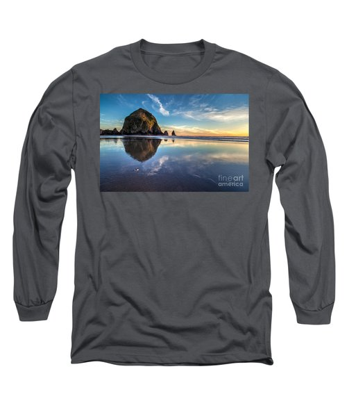 Sand Dollar Sunset Repose Long Sleeve T-Shirt by Mike Reid