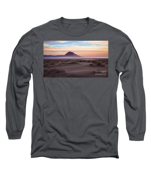 Sand Dunes At Sunset At Morro Bay Beach Shoreline  Long Sleeve T-Shirt by Jerry Cowart