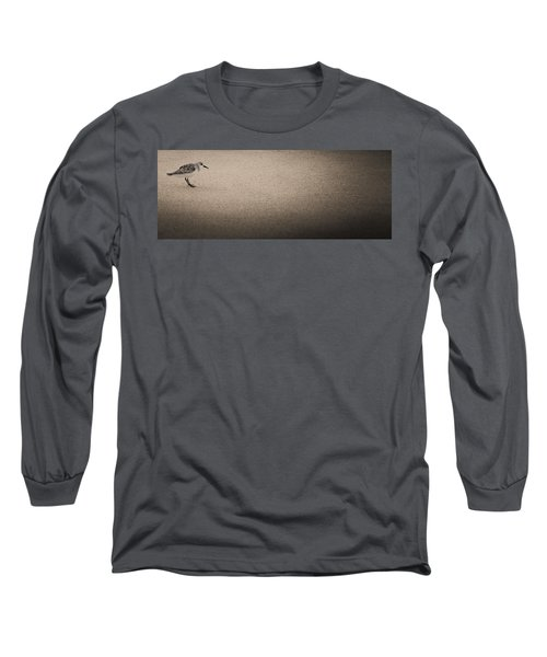 Sanderling On Vero Beach Long Sleeve T-Shirt by Bradley R Youngberg