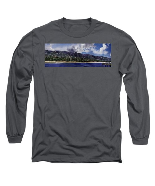 Santa Barbara Panorama Long Sleeve T-Shirt by Danuta Bennett