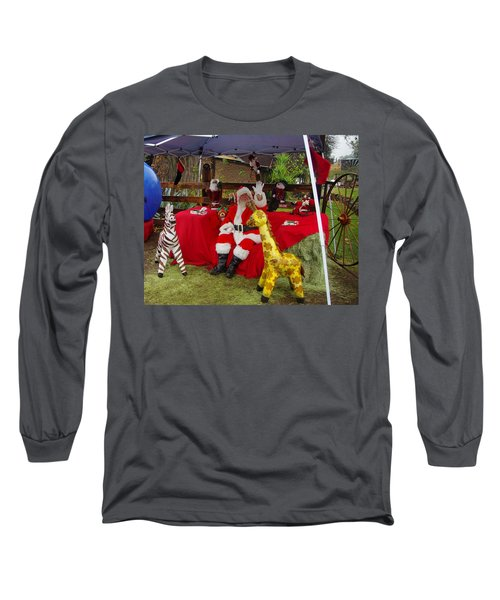 Santa Clausewith The Animals Long Sleeve T-Shirt