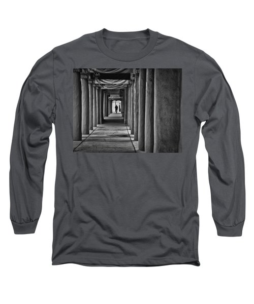 Long Sleeve T-Shirt featuring the photograph Santa Fe New Mexico Walkway by Ron White