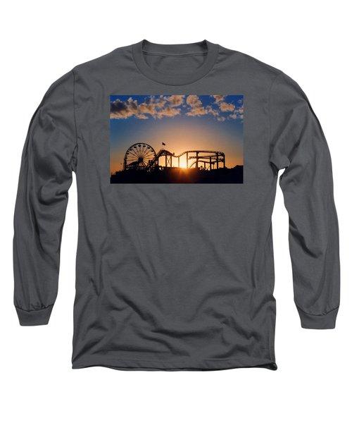 Santa Monica Pier Long Sleeve T-Shirt by Art Block Collections