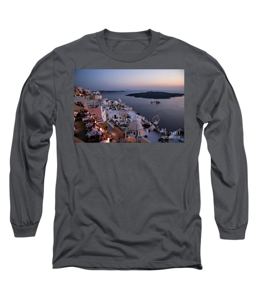 Santorini At Dusk Long Sleeve T-Shirt