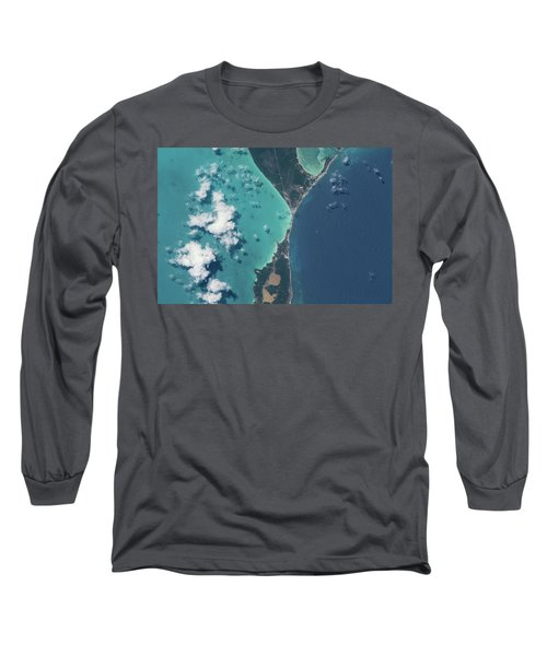 Satellite View Of North Eleuthera Long Sleeve T-Shirt