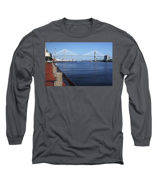 Savannah River Bridge Ga Long Sleeve T-Shirt