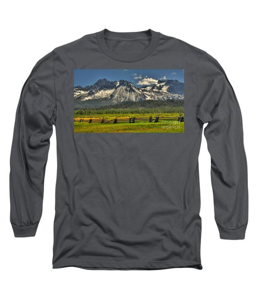 Sawtooth Mountains Long Sleeve T-Shirt