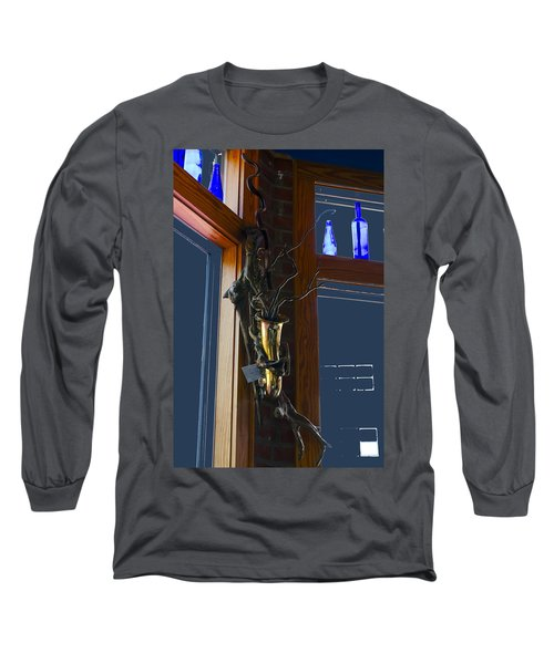 Long Sleeve T-Shirt featuring the photograph Sax At The Full Moon Cafe by Greg Reed