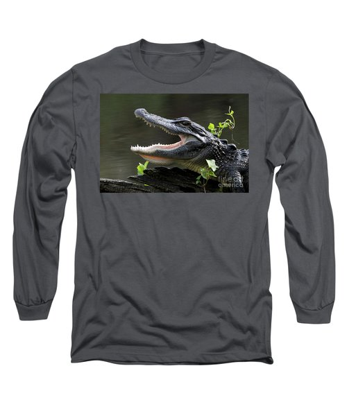 Say Aah - American Alligator Long Sleeve T-Shirt